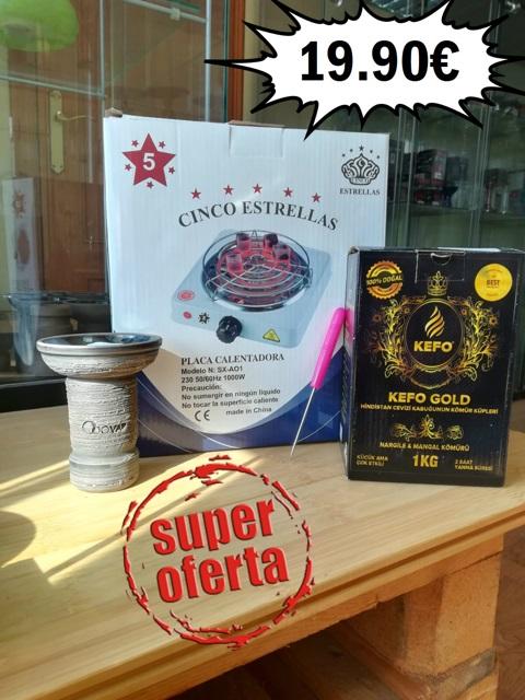 OFERTA HORNILLO + CAZOLETA + CARBON