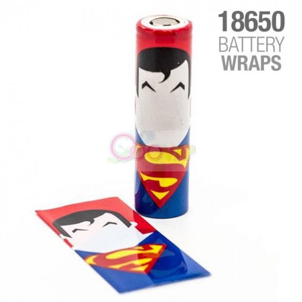 WRAPS ACCU 18650 SUPERMAN